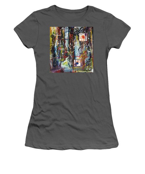 White Lies, Yellow Teeth Women's T-Shirt (Athletic Fit)