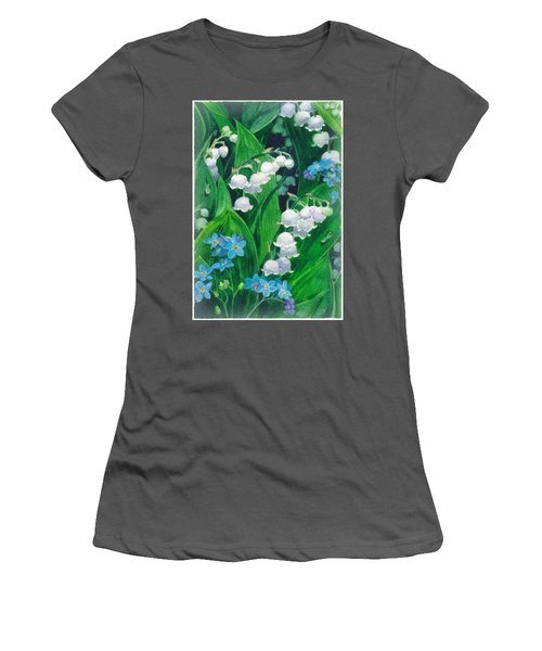 White Lilies Of The Valley Women's T-Shirt (Athletic Fit)