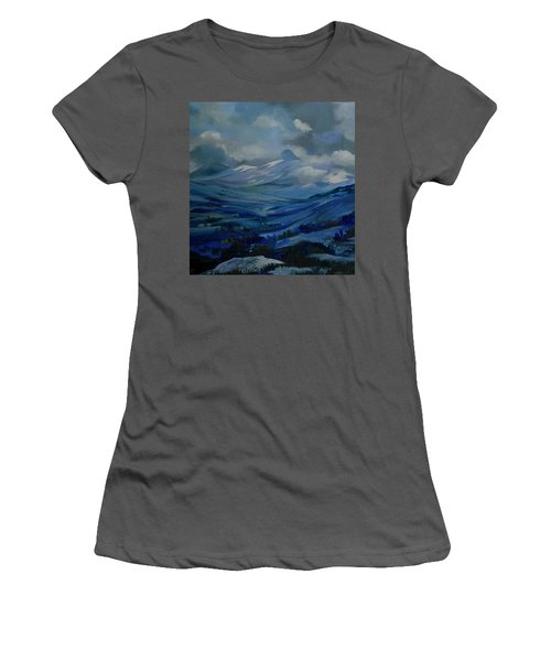 Women's T-Shirt (Junior Cut) featuring the painting White Pass by Anna  Duyunova