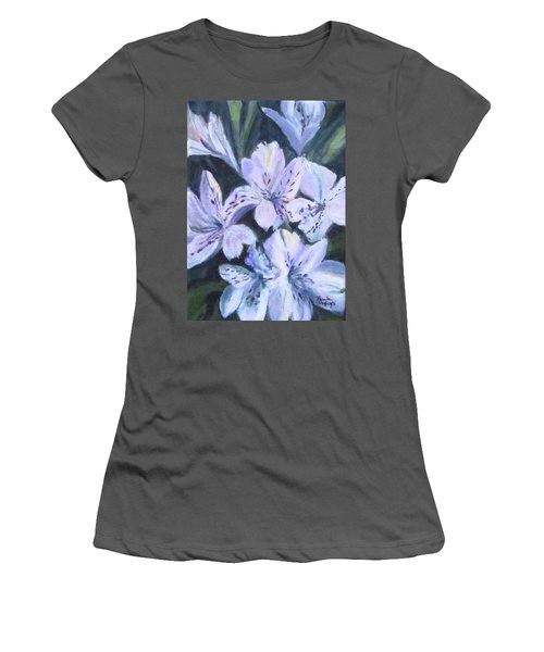 White Peruvian Lily Women's T-Shirt (Athletic Fit)
