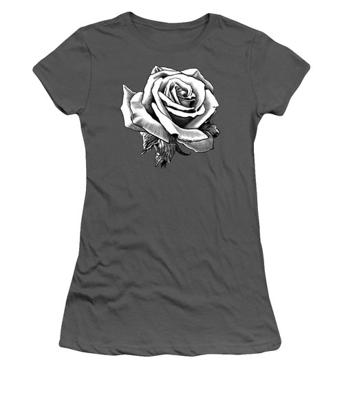 White Rose For The Lady Women's T-Shirt (Athletic Fit)