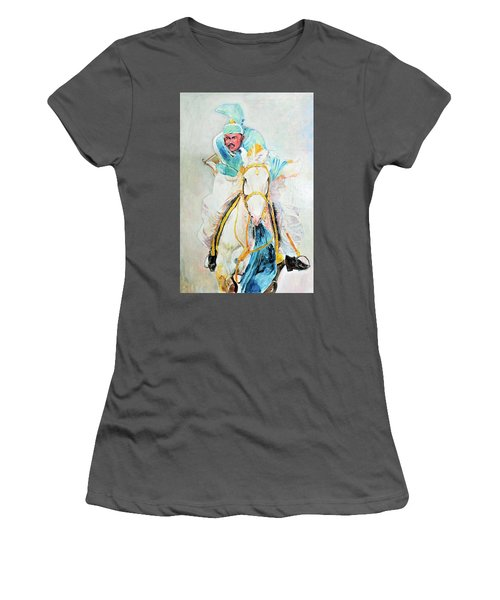 White Stallion Women's T-Shirt (Athletic Fit)