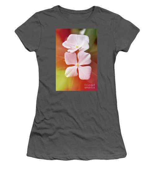 White Vinca With Vivid Highligts  Women's T-Shirt (Athletic Fit)