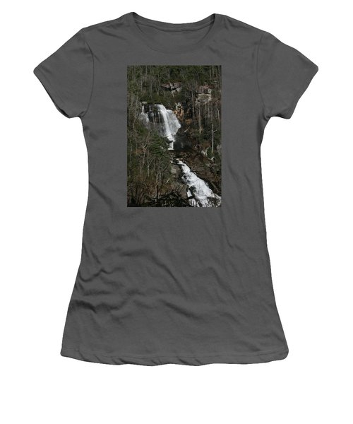 Whitewater Falls Women's T-Shirt (Junior Cut) by Cathy Harper