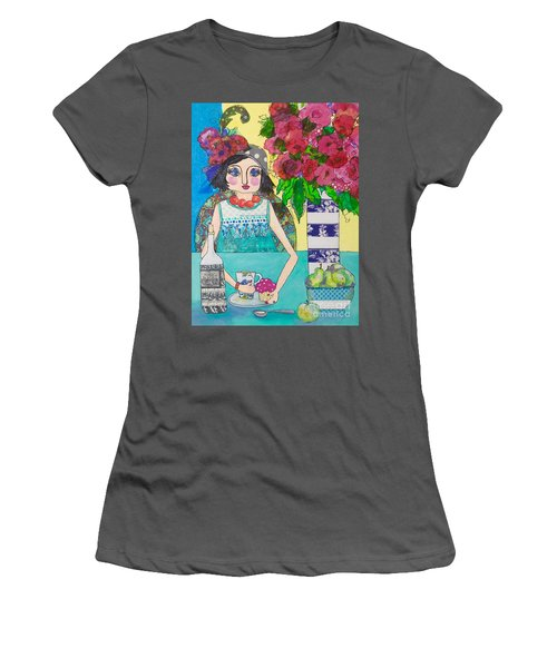 Why Limit Happy To A Hour Women's T-Shirt (Junior Cut) by Rosemary Aubut