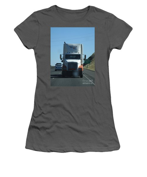 Women's T-Shirt (Athletic Fit) featuring the photograph Wilbur Now What by Marie Neder