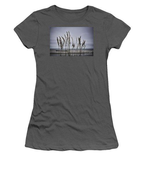 Wild Grasses Women's T-Shirt (Junior Cut) by Judy Wolinsky