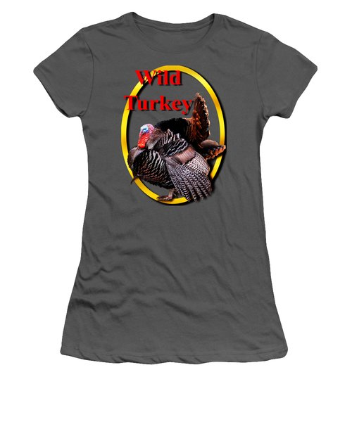 Wild Turkey Women's T-Shirt (Junior Cut) by John Furlotte