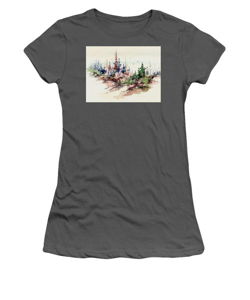 Wilderness Women's T-Shirt (Junior Cut) by Sam Sidders