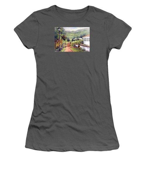 Wildflower Inn Women's T-Shirt (Junior Cut) by Jill Musser