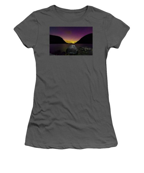 Willoughby Aurora And Boulder Women's T-Shirt (Junior Cut) by Tim Kirchoff