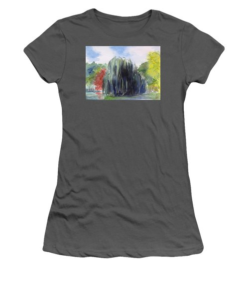 Willow Tree -2  Hidden Lake Gardens -tipton Michigan Women's T-Shirt (Athletic Fit)