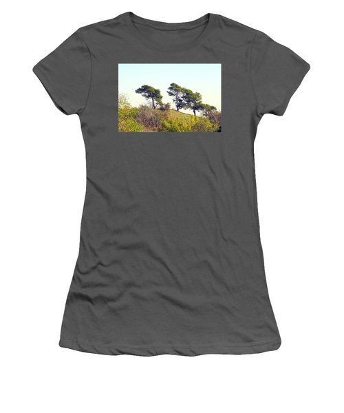 Wind Blown Trees Women's T-Shirt (Athletic Fit)