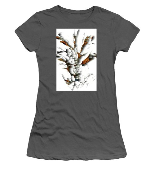 Women's T-Shirt (Athletic Fit) featuring the painting Wind Series 05.072311windblastscvss by Kris Haas