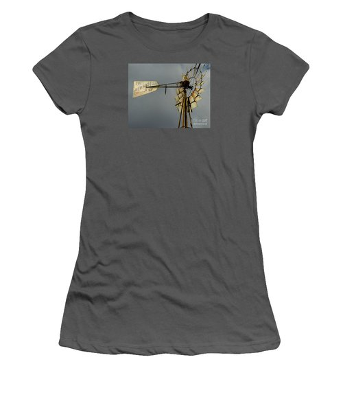 Windmill 1 Women's T-Shirt (Athletic Fit)