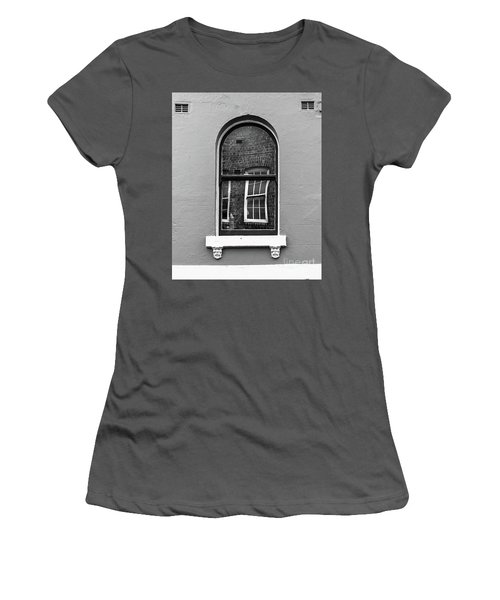 Women's T-Shirt (Junior Cut) featuring the photograph Window And Window by Perry Webster