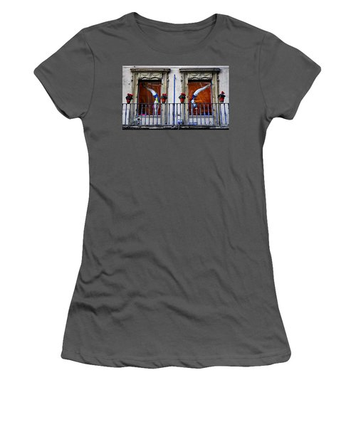 Window Dressing 2 In Florence Italy Women's T-Shirt (Athletic Fit)