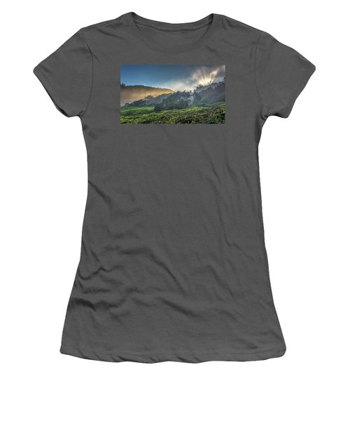 Windswept Trees On The Oregon Coast Women's T-Shirt (Junior Cut) by Pierre Leclerc Photography