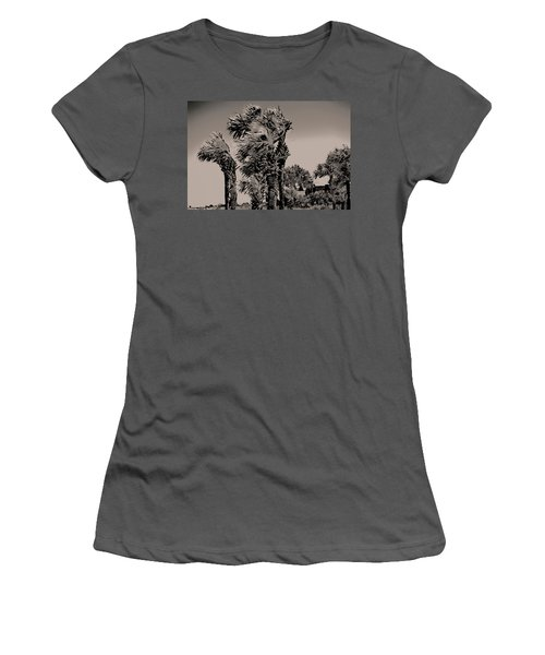 Windy Day At Beach Women's T-Shirt (Athletic Fit)