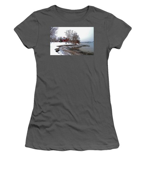 Winter At Perkins House  Women's T-Shirt (Athletic Fit)