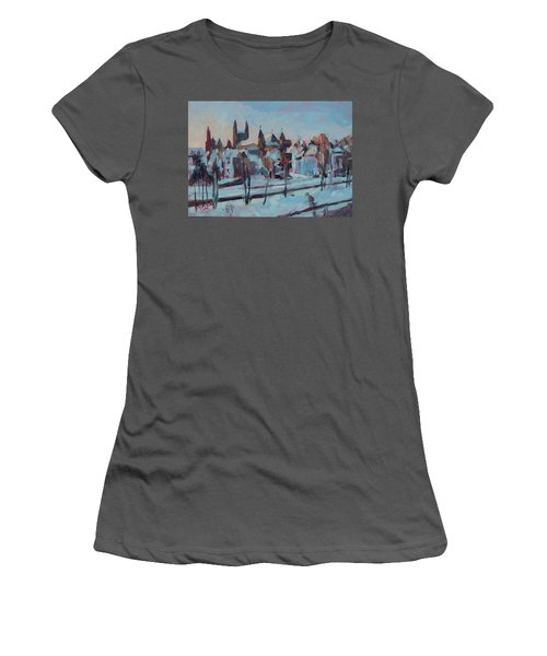Winter Basilica Our Lady Maastricht Women's T-Shirt (Athletic Fit)