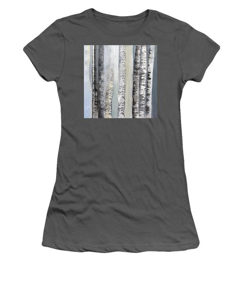 Winter Birches Women's T-Shirt (Athletic Fit)