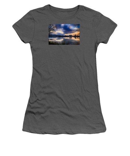 Winter Colors At Sunset Women's T-Shirt (Junior Cut) by Lynn Hopwood