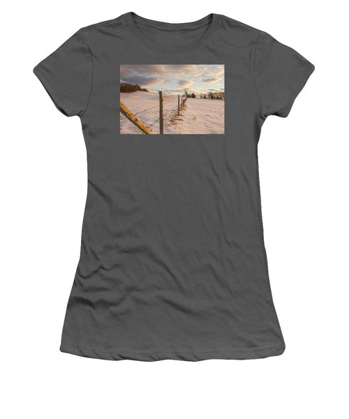 Winter Countryside Women's T-Shirt (Athletic Fit)