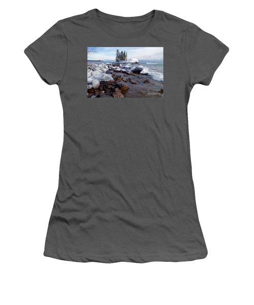 Winter Delight Women's T-Shirt (Junior Cut) by Sandra Updyke