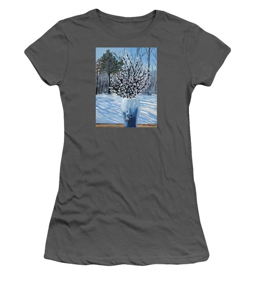 Winter Floral Women's T-Shirt (Athletic Fit)
