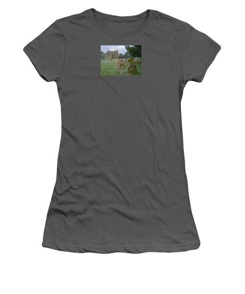 Winter Graveyard Women's T-Shirt (Athletic Fit)