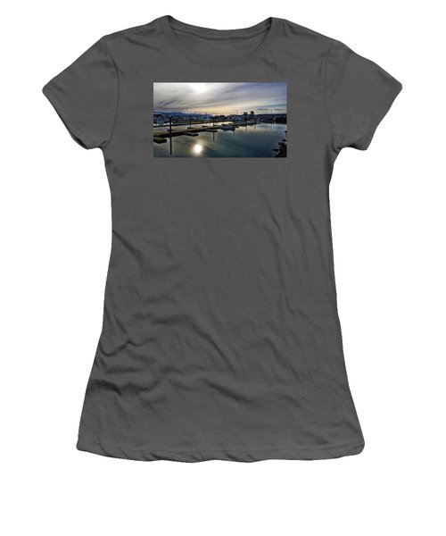 Winter Harbor Revisited #mobilephotography Women's T-Shirt (Athletic Fit)