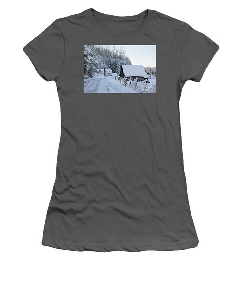 Winter In Virginia Women's T-Shirt (Athletic Fit)