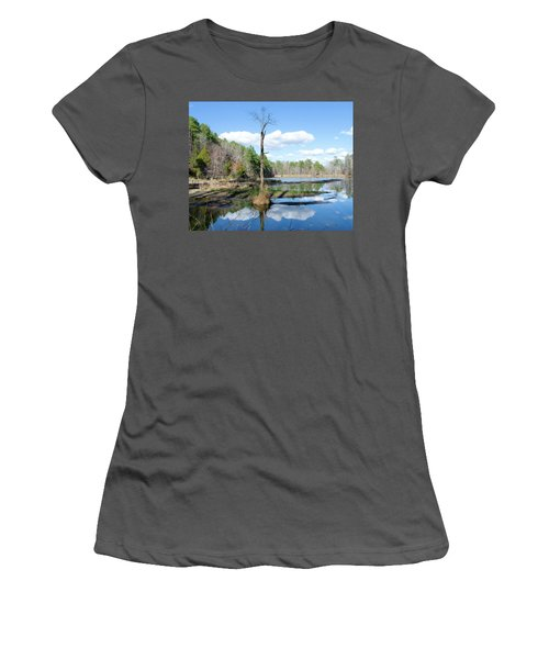 Winter Lake View Women's T-Shirt (Junior Cut) by George Randy Bass