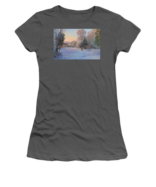Winter Landscape In The Morning Women's T-Shirt (Athletic Fit)