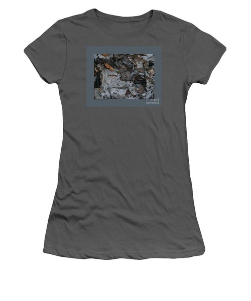Women's T-Shirt (Junior Cut) featuring the photograph Winter Leaf Abstract-iii by Patricia Overmoyer