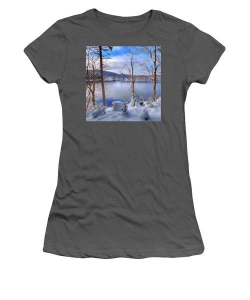 Winter On West Lake Women's T-Shirt (Junior Cut) by David Patterson