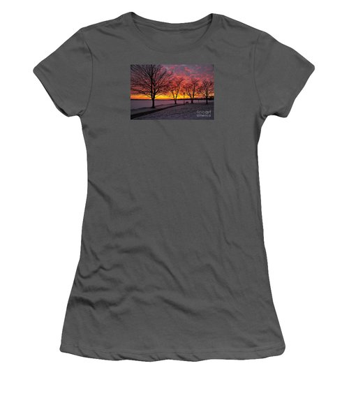 Women's T-Shirt (Junior Cut) featuring the photograph Winter Park by Terri Gostola
