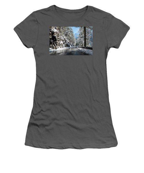 Winter Road Women's T-Shirt (Athletic Fit)