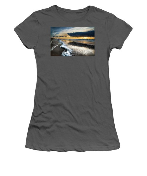 Winter Sea Sunset Women's T-Shirt (Athletic Fit)
