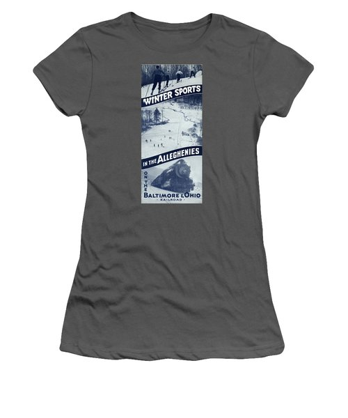 Winter Sports In The Alleghenies Women's T-Shirt (Athletic Fit)