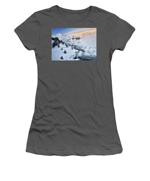 Winter Steam  Women's T-Shirt (Athletic Fit)