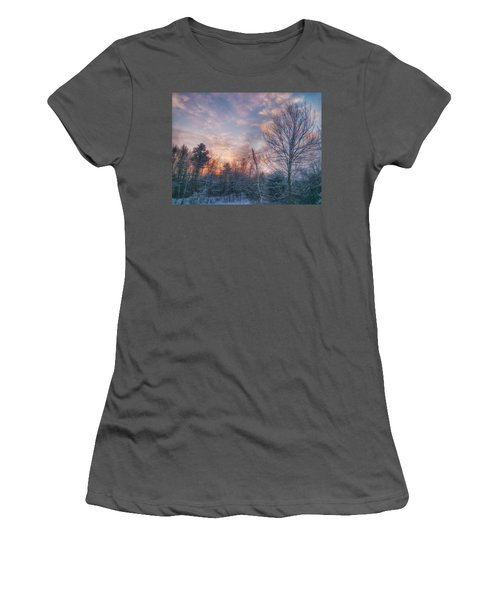 Winter Sunset In New England Women's T-Shirt (Athletic Fit)