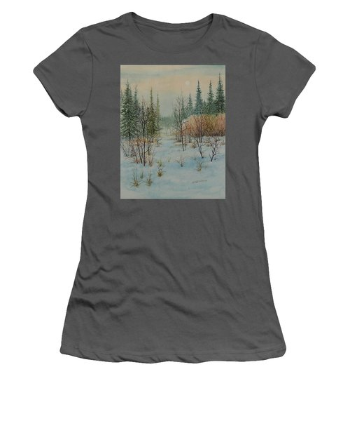 Winter Trail Alberta Women's T-Shirt (Athletic Fit)