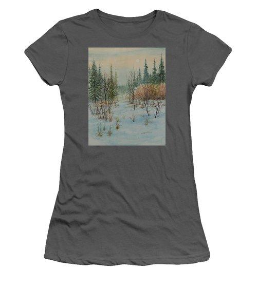 Winter Trail Alberta Women's T-Shirt (Athletic Fit)