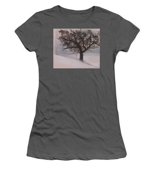 Winter Tree Women's T-Shirt (Junior Cut) by Laurie Rohner