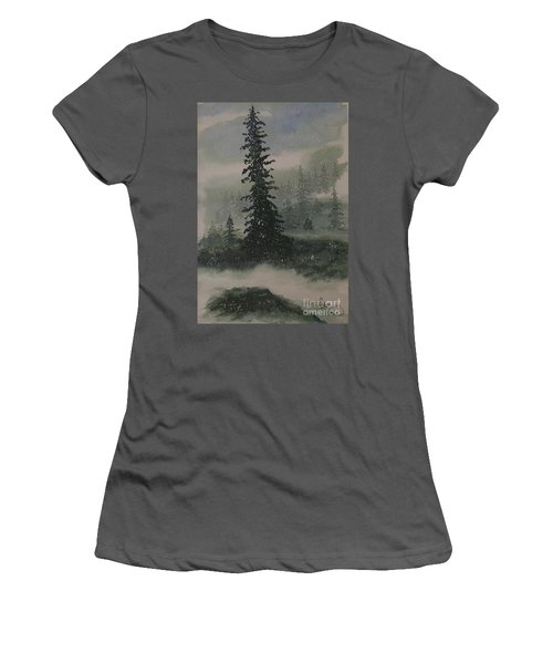 Winter Up North Women's T-Shirt (Athletic Fit)