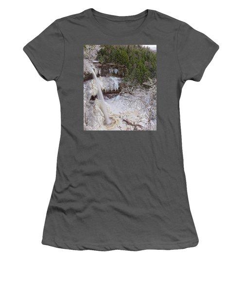 Winter Wonderland At Kaaterskill Falls Women's T-Shirt (Athletic Fit)