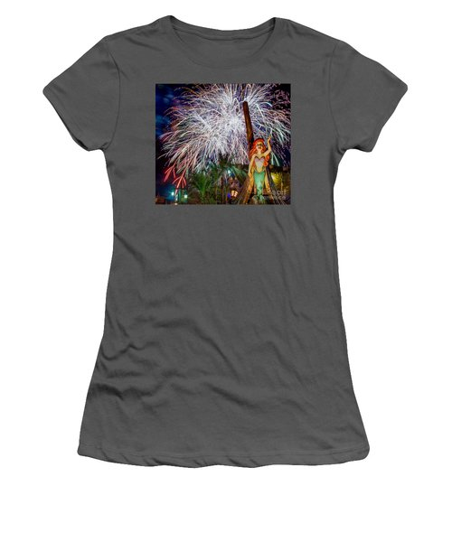 Wishes Over Prince Eric's Castle Women's T-Shirt (Athletic Fit)