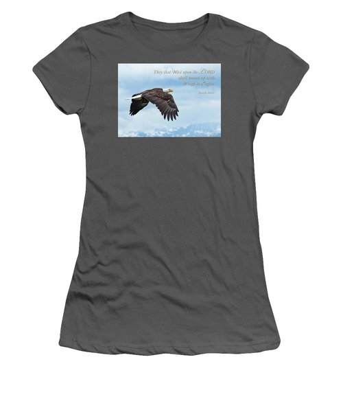 With Wings As Eagles Women's T-Shirt (Athletic Fit)